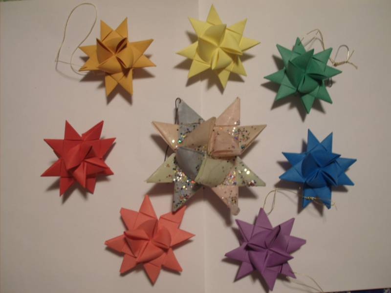 WCMD09F German Star Ornaments By Greenmaytag At