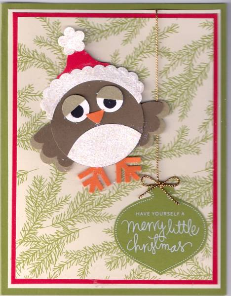 Christmas Owl By NotGonnaGetHooked At Splitcoaststampers