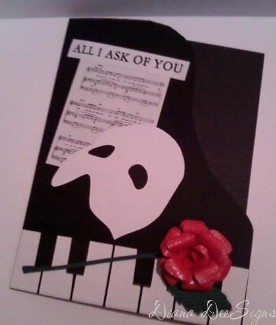 Phantom Of The Opera Birthday Card By DianaDee At