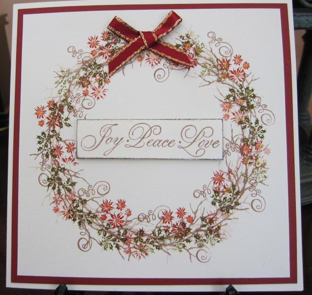 Tapestry Stamp Wreath By Michele G At Splitcoaststampers