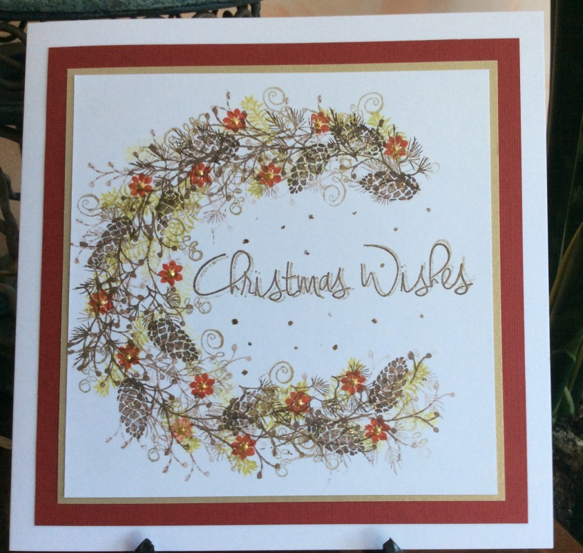 Christmas Wishes Wreath By Michele G At Splitcoaststampers