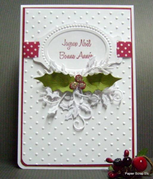 Une Carte Pour Nol Et Les Voeux By Papierscrapetc At