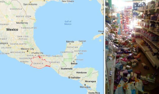 Mexico earthquake MAP  Where is Oaxaca  Will there be another     Mexico earthquake MAP  Where is Oaxaca  Will there be another earthquake     World   News   Express co uk
