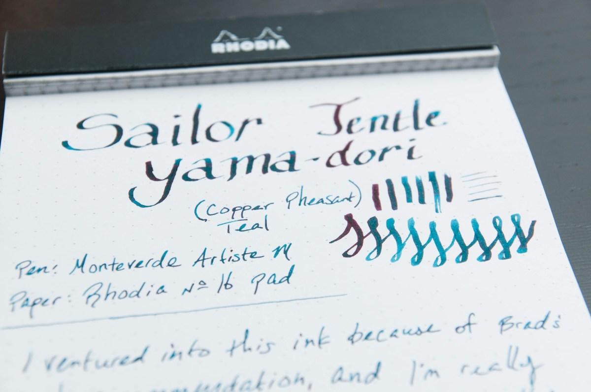 Sailor Jentle Yama-dori Ink Review — The Pen Addict