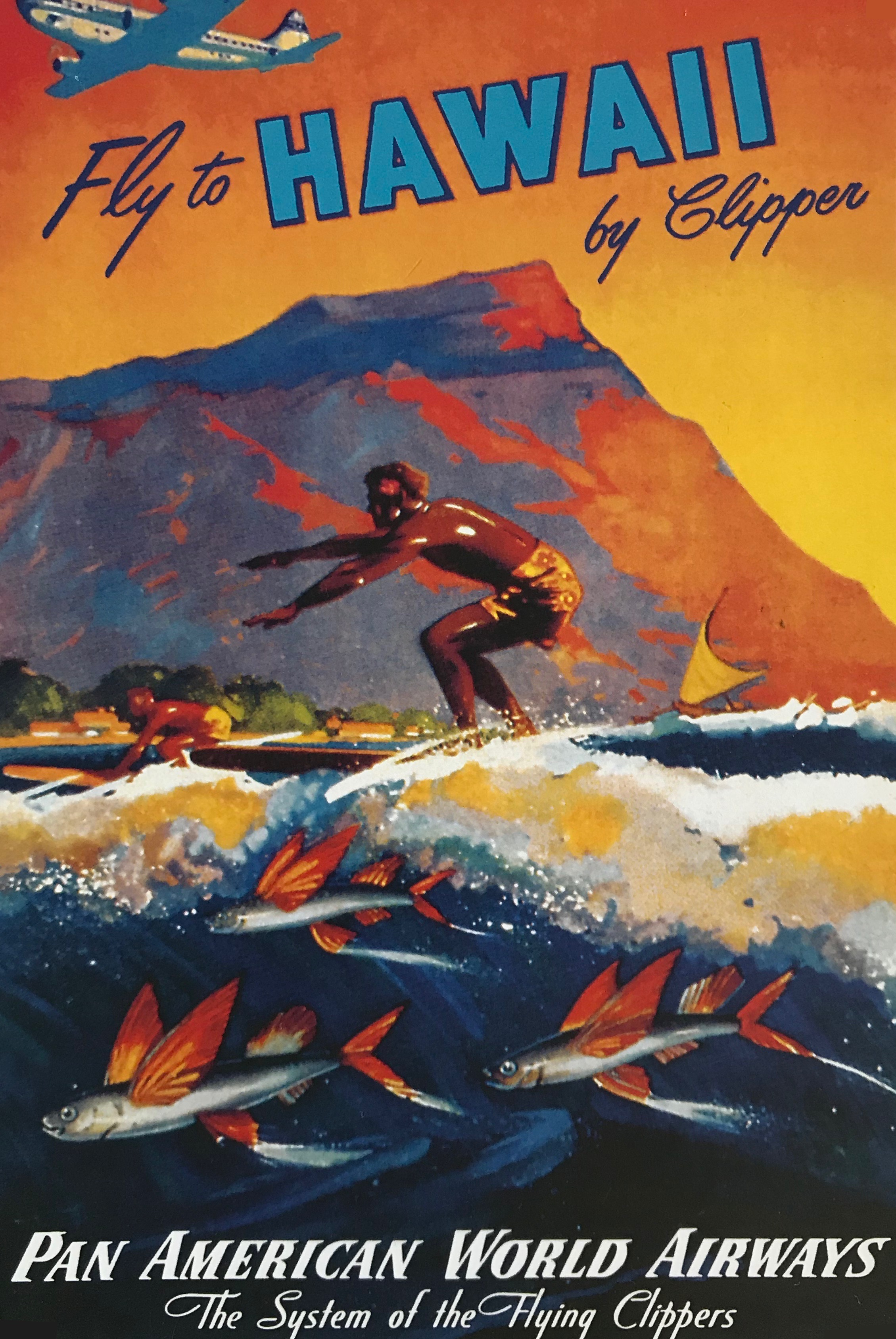 9 vintage hawaii travel posters that