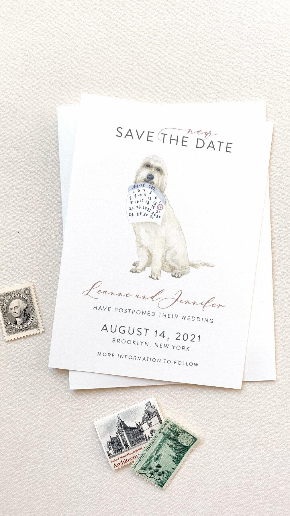 wedding postponement announcement and