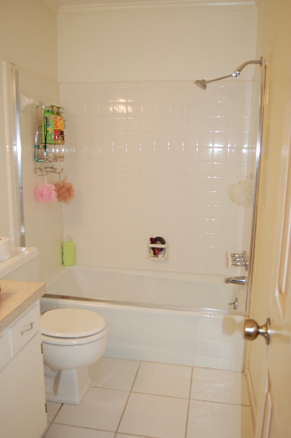 Mini Bathroom Remodel Removing The Shower Doors