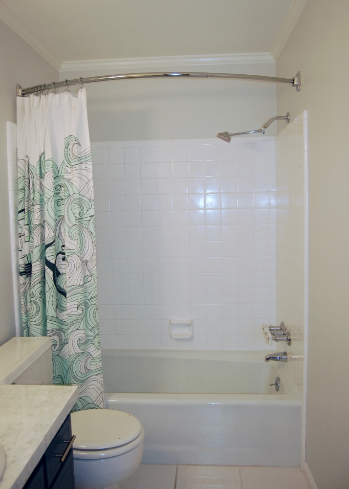 at what height should a shower curtain