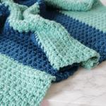 Hayden Color Block Baby Blanket Free Crochet Pattern Ewe Ewe Yarns