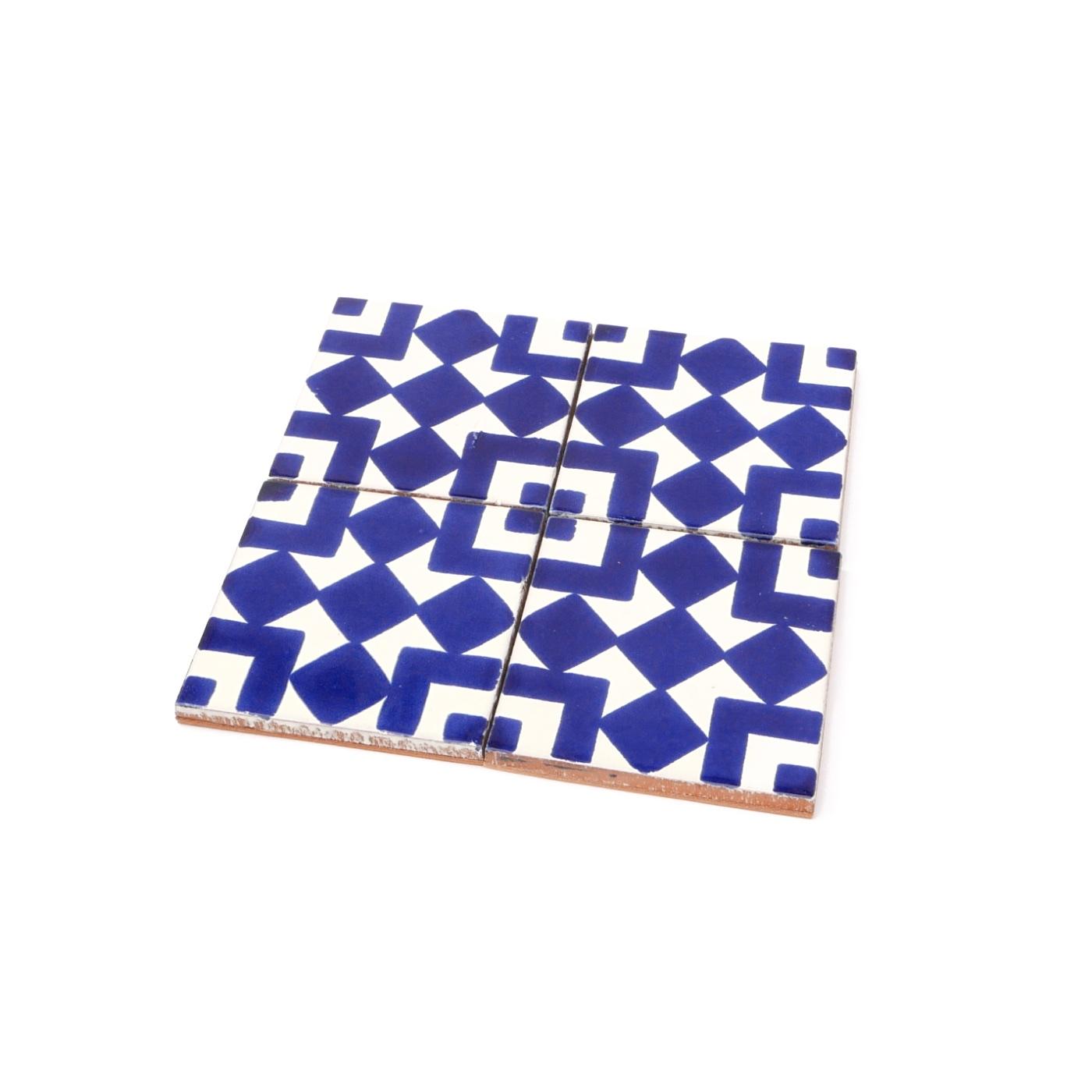 talavera tile coaster set made solid