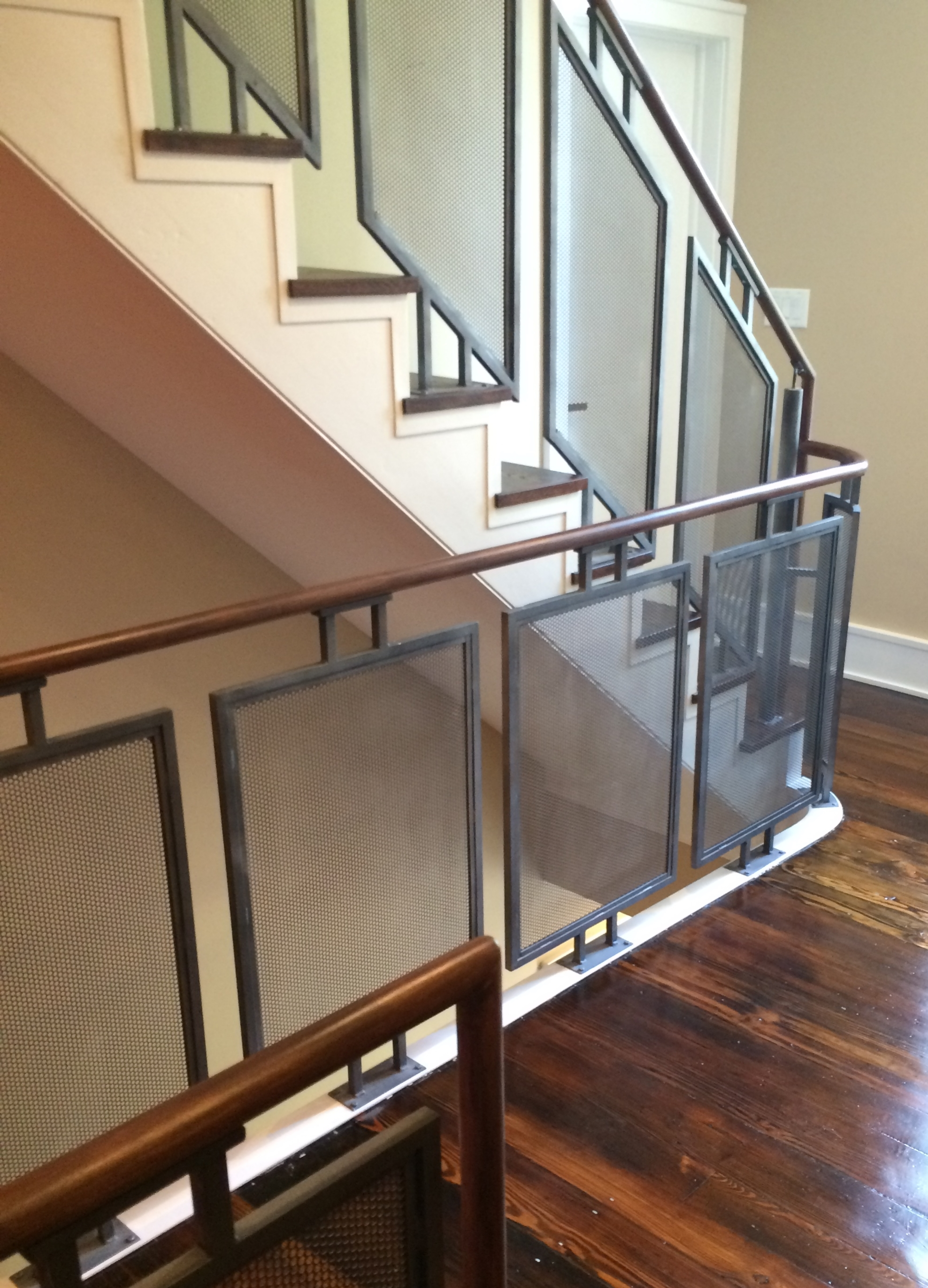Railings — Capozzoli Stairworks | Glass Railing With Wood Handrail | Modern | Interior | Panel | Metal | Residential