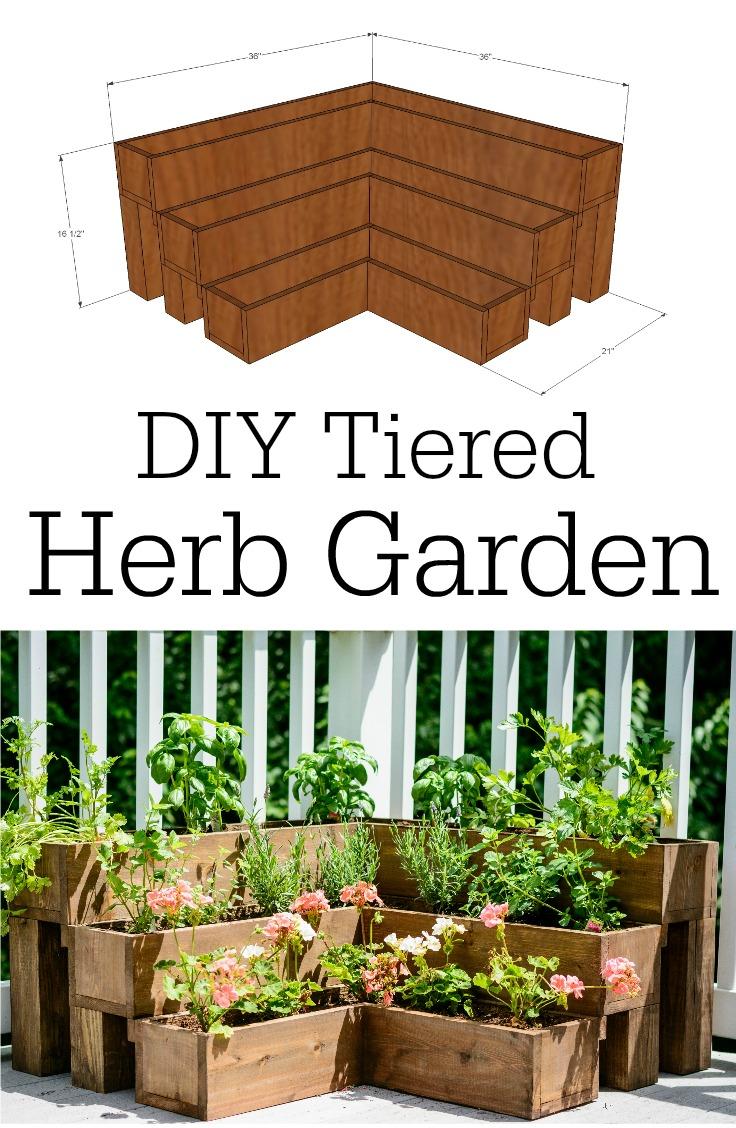 diy tiered herb garden tutorial