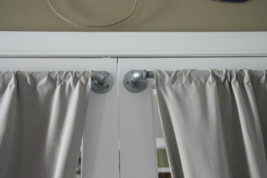 putting curtains on french doors