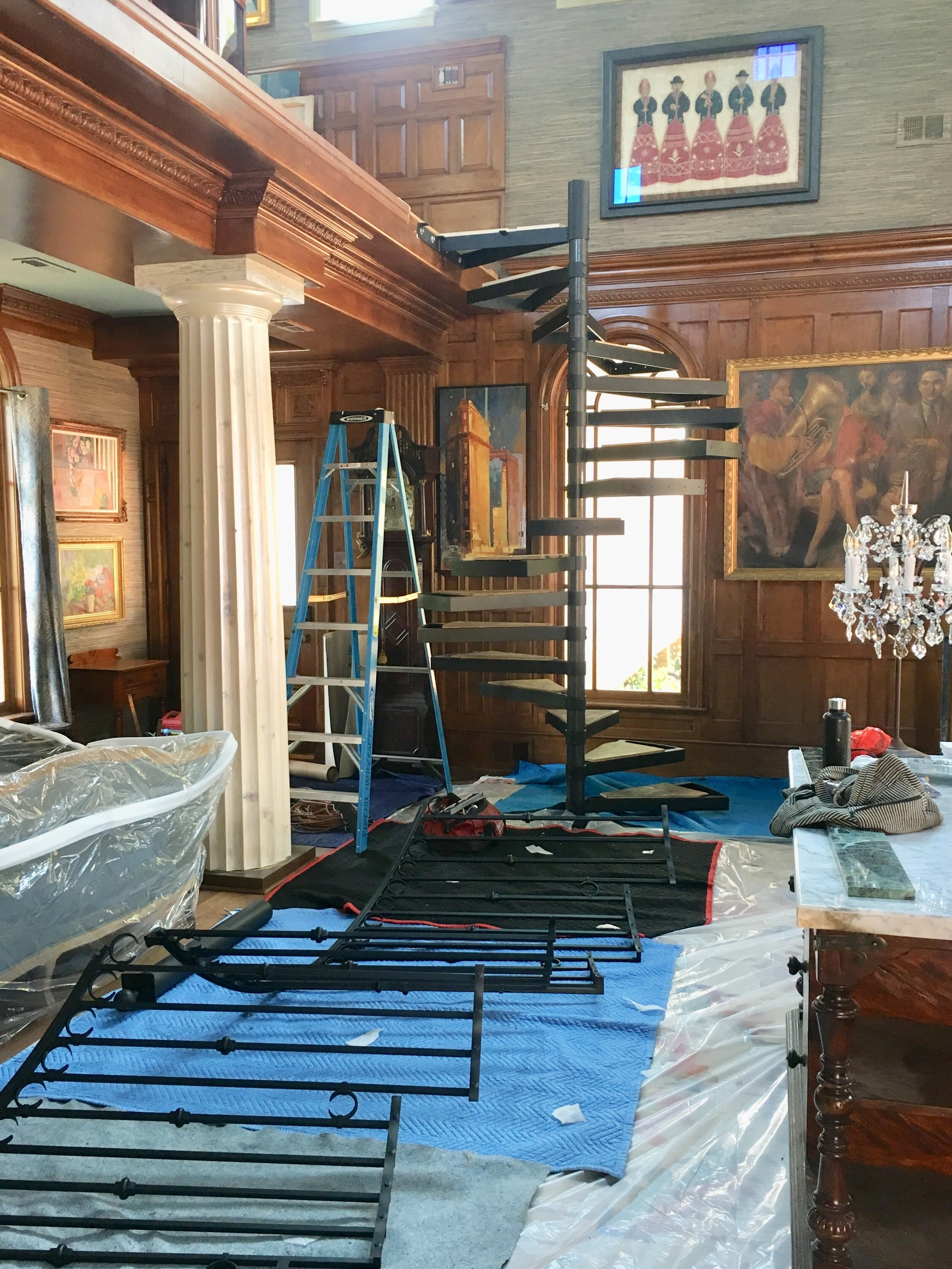 Spiral Staircase — Projects — Phoenix Handcraft | Installing A Spiral Staircase | Bottom | Rectangular | Alcove | 20 Step | Circular