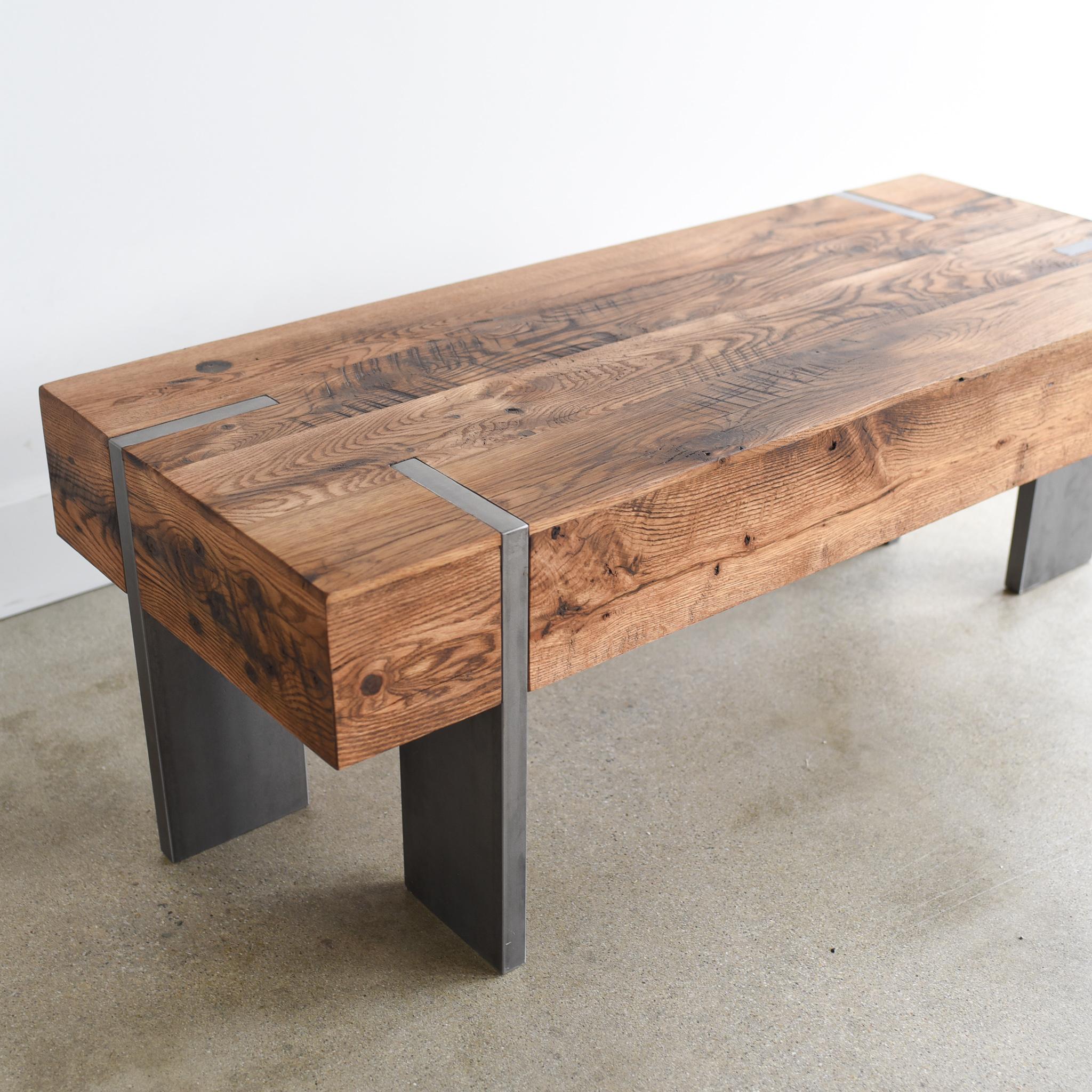 modern reclaimed wood coffee table what we make