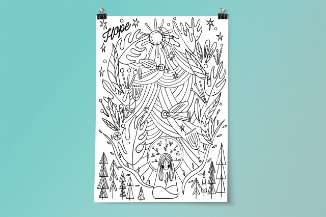 """Mary """"Revolution of Love"""" Advent Coloring Posters (Personal Use)"""