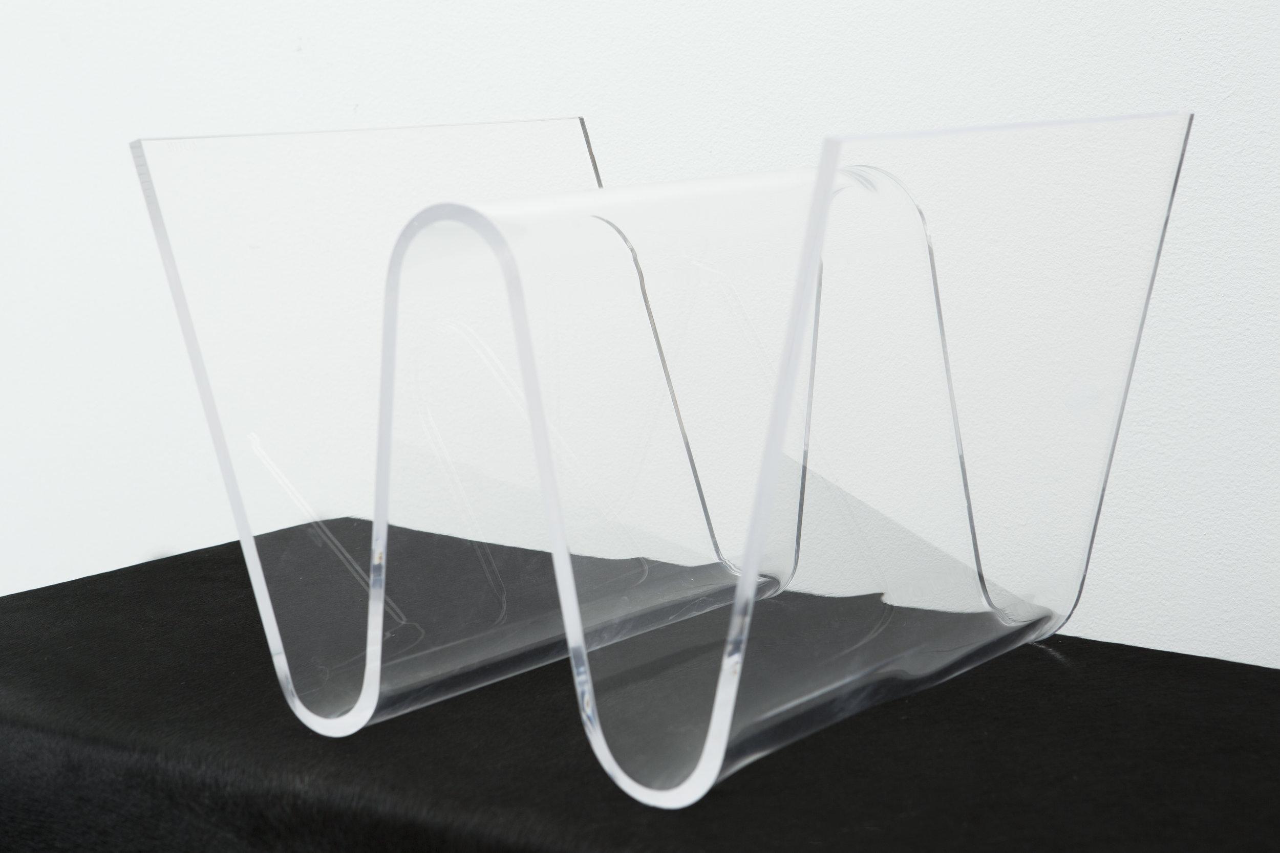 w acrylic magazine rack matthew rachman gallery
