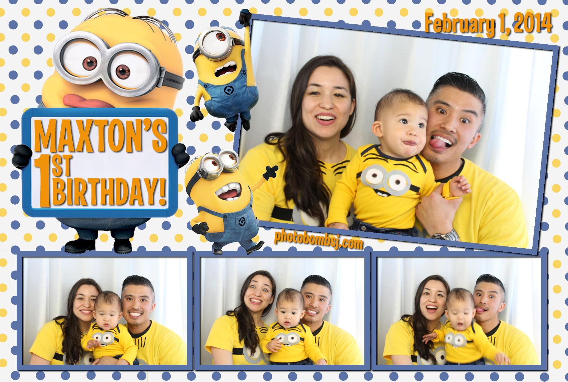 Maxton S Minion Themed 1st Birthday Photo Bomb