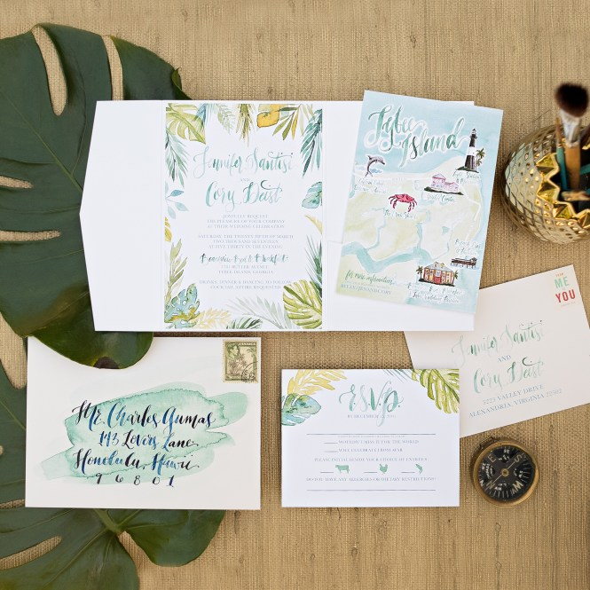 Tropical Watercolor Wedding Invitations Wouldn T It Be Lovely
