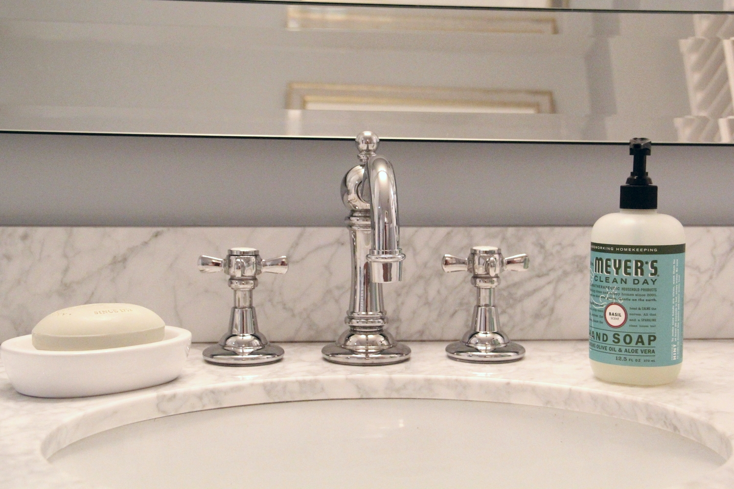 displaying hand soap in your bathroom