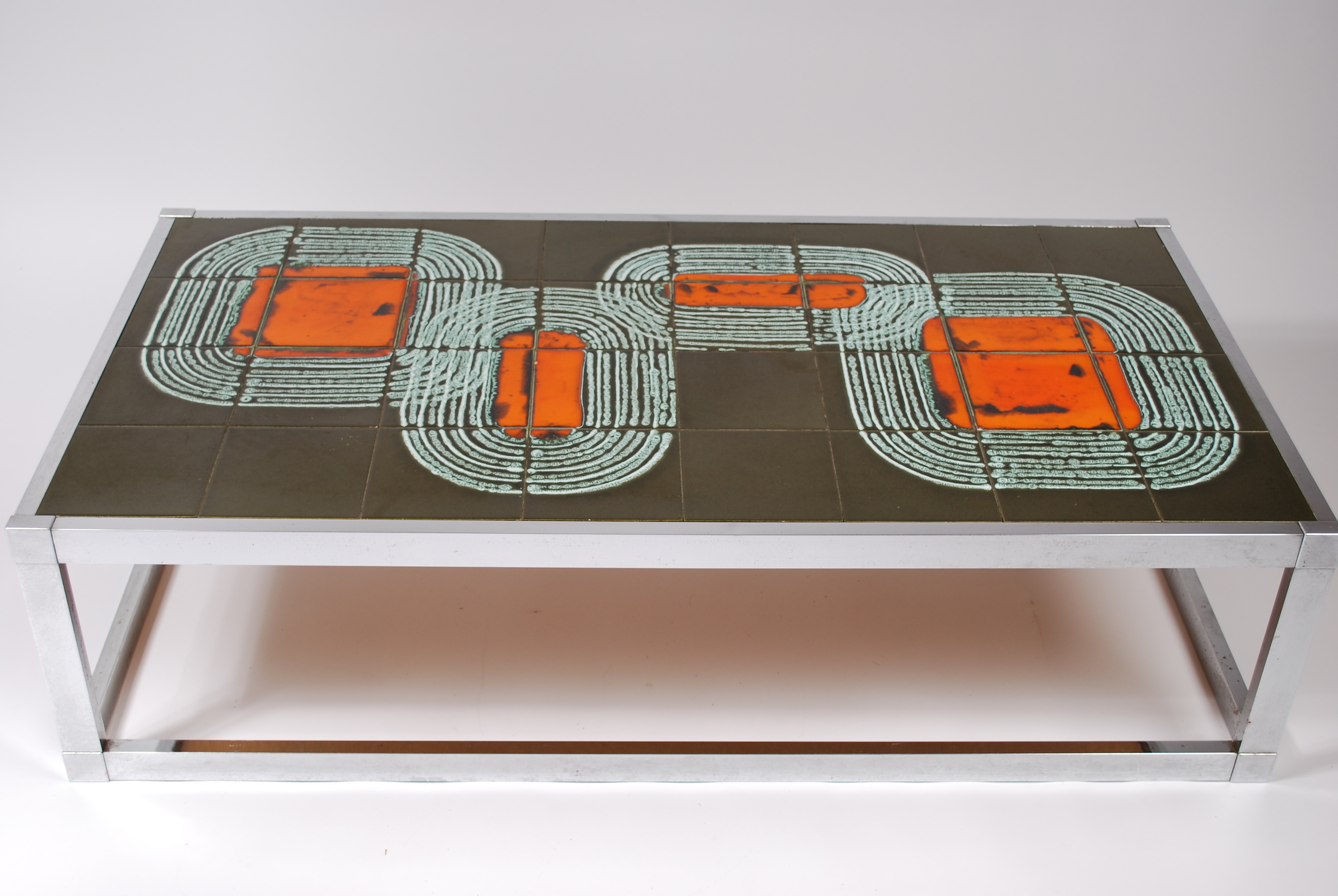 tile coffee table 60 s flux vintage