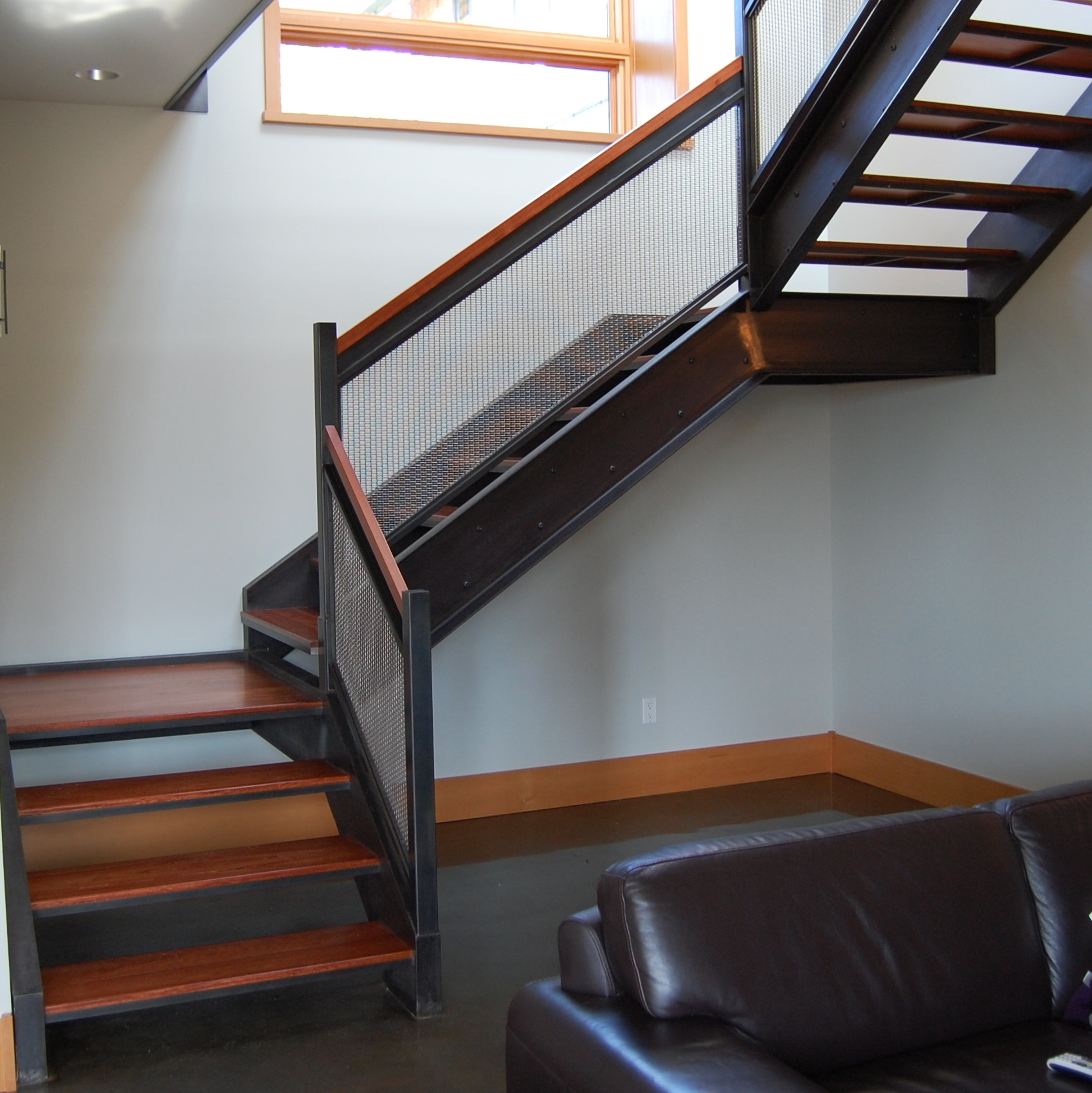 Stairs — Formed Objects | Wire Mesh Stair Railing | Exterior Perforated Metal | Galvanized Mesh | Staircase | Modern | Mesh Balustrade