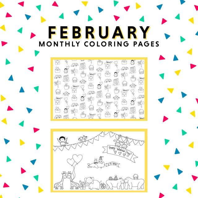 Monthly Coloring Pages — KAYLA KITTS CO  NM Wedding Photographer + Doodle  Artist