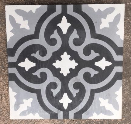 moroccan black white grey cement tile bourkeshire interiors interior design decoration