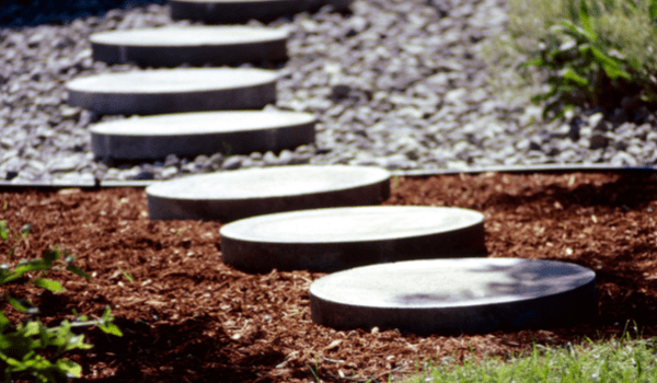 landscape stepping stones and design