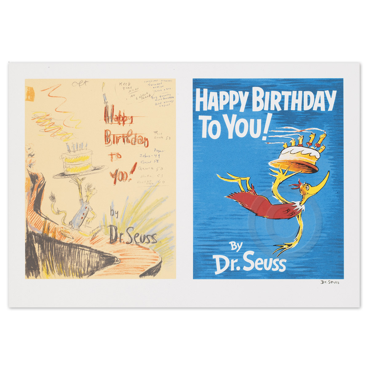Happy Birthday To You Diptych And Single The Art Of Dr Seuss Collection Published By Chaseart Companies