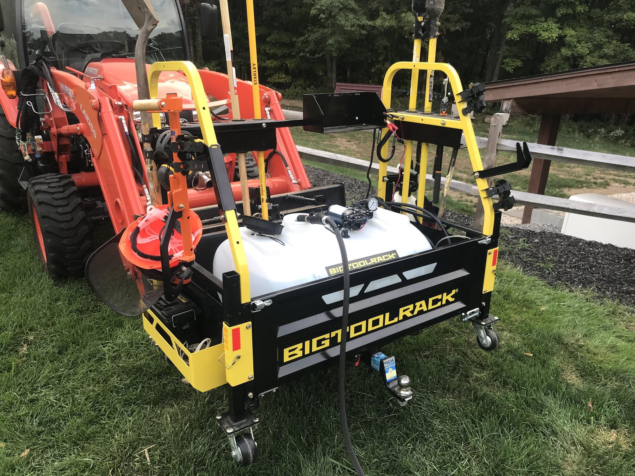 btr sp40 550 bigtoolrack spot sprayer 40 gallons bigtoolrack