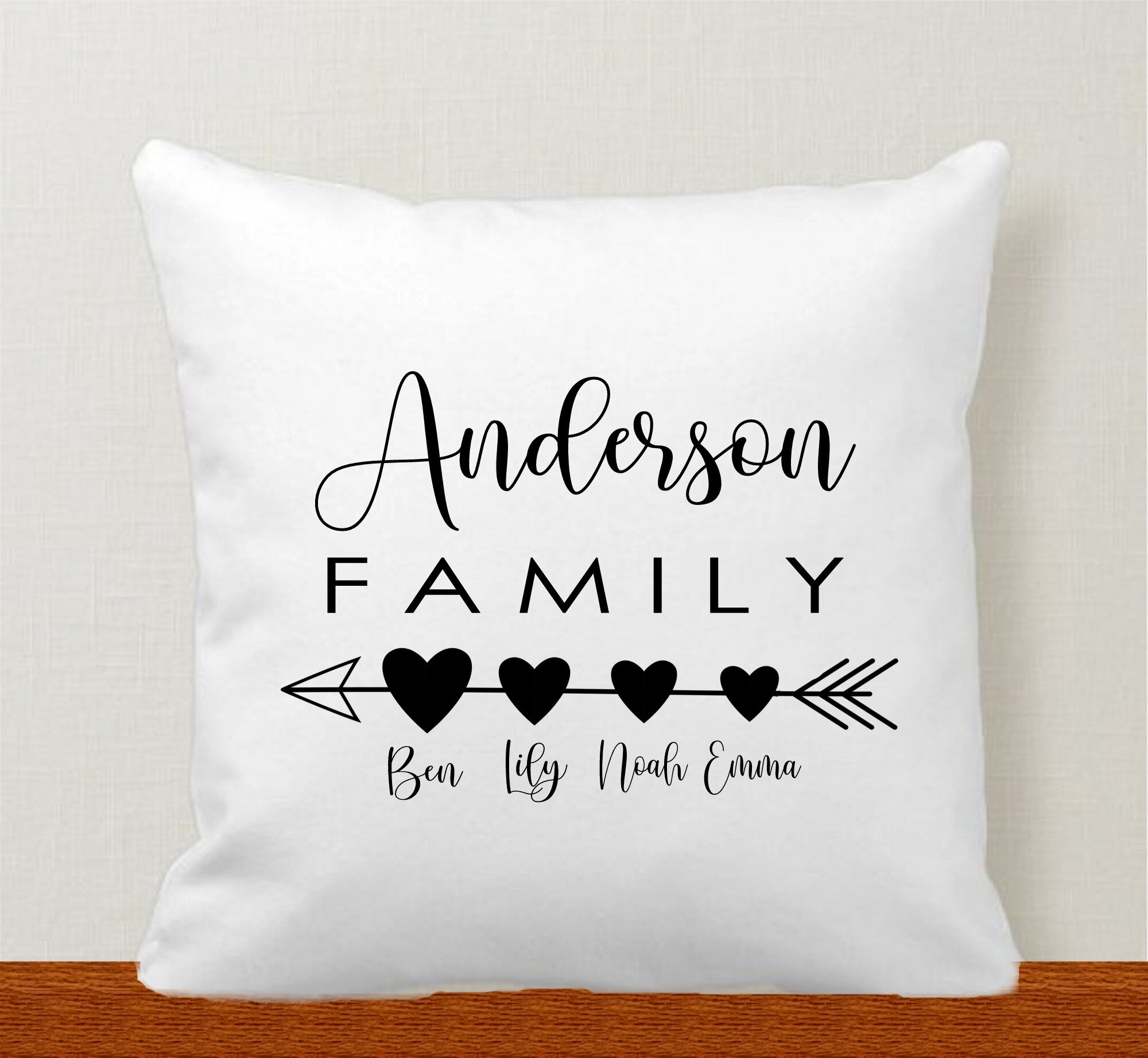 arrows personalized family pillow cover bellingham baby company