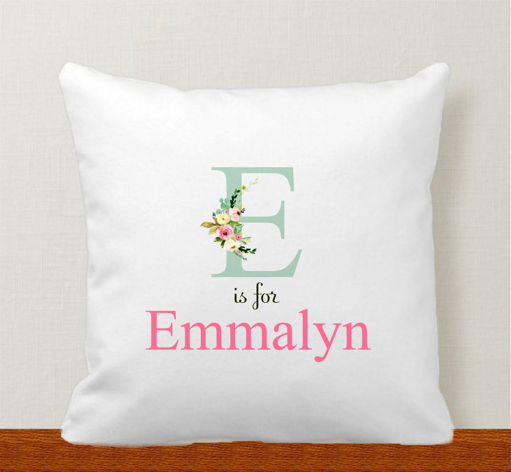 baby s initial personalized pillow cover bellingham baby company