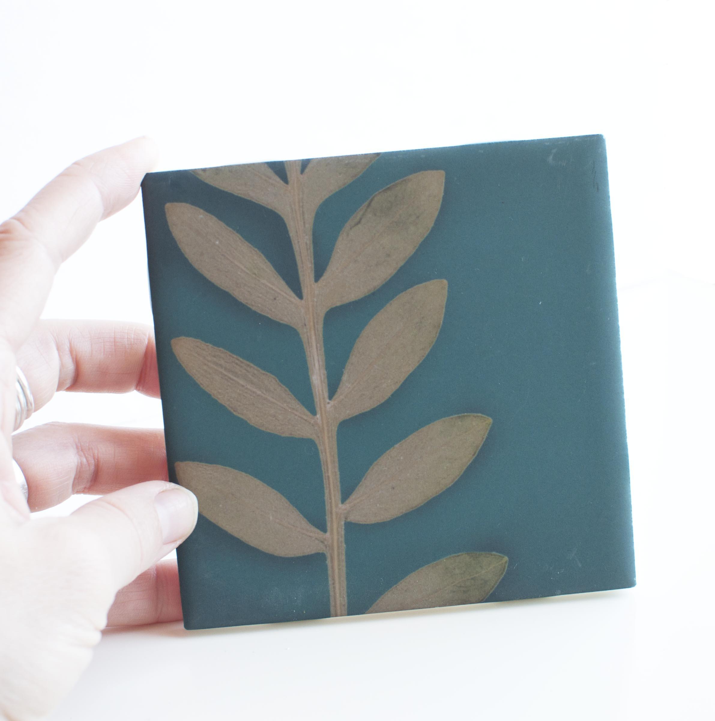 unique ceramic tile modern botanical tile