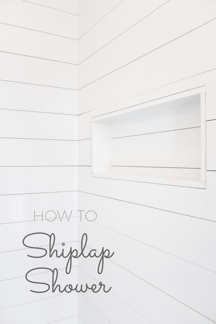 how to install shiplap in a shower and