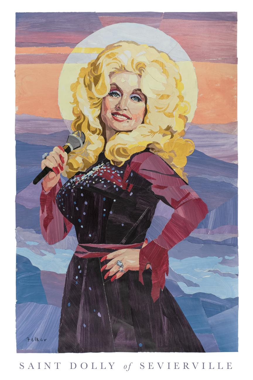 st dolly of sevierville print 13x19 robert felker art