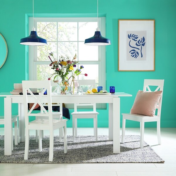 Aspen White Extending Dining Table with 4 Kendal Chairs  - £429.99 -  www.furniturechoice.co.uk