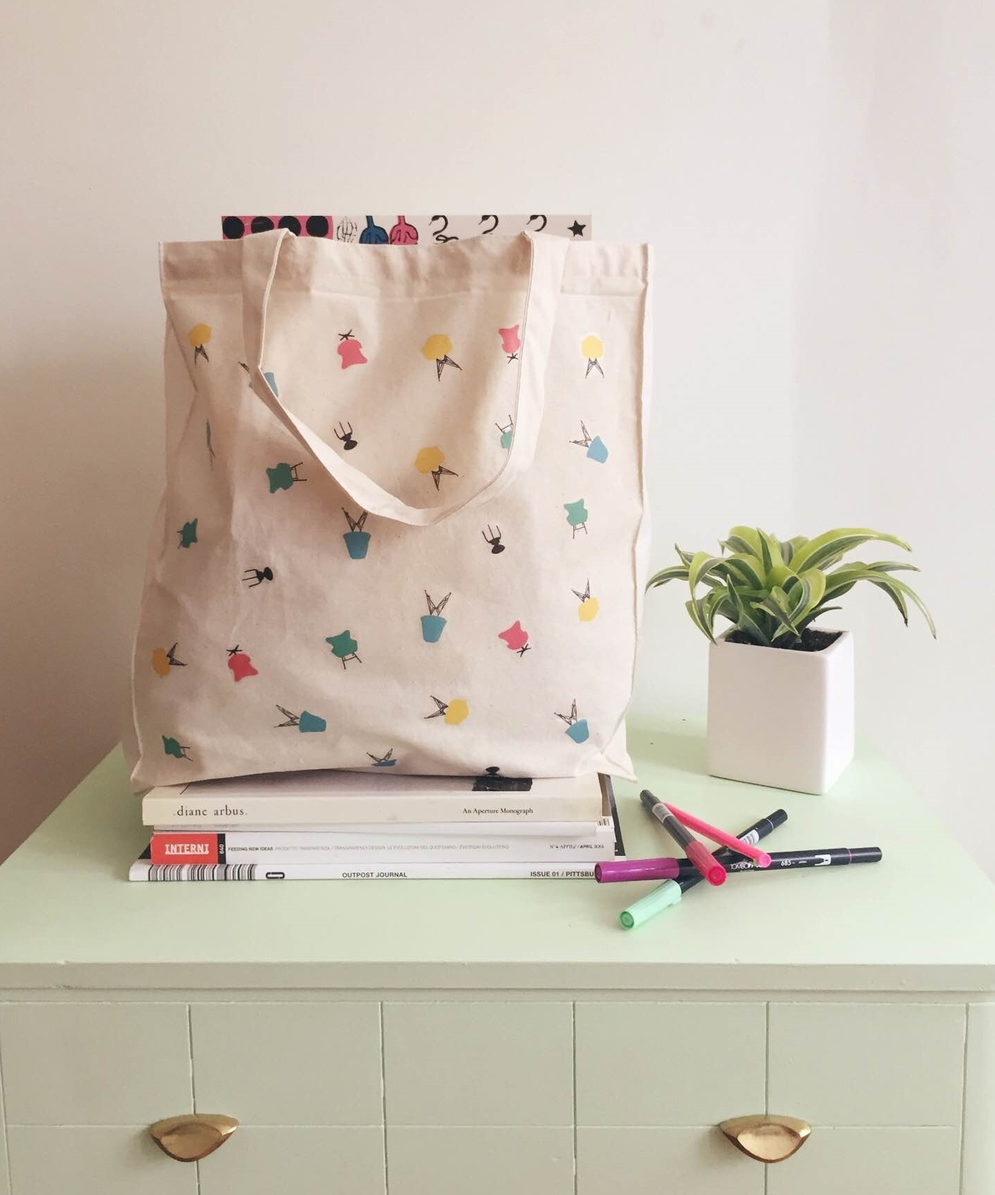 Diy Midcentury Modern Chair Tote Bag Freckle Fair
