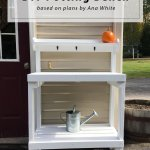 Diy Potting Bench Based On Plans By Ana White New England Lifestyle Motherhood Diy Birch Landing Home