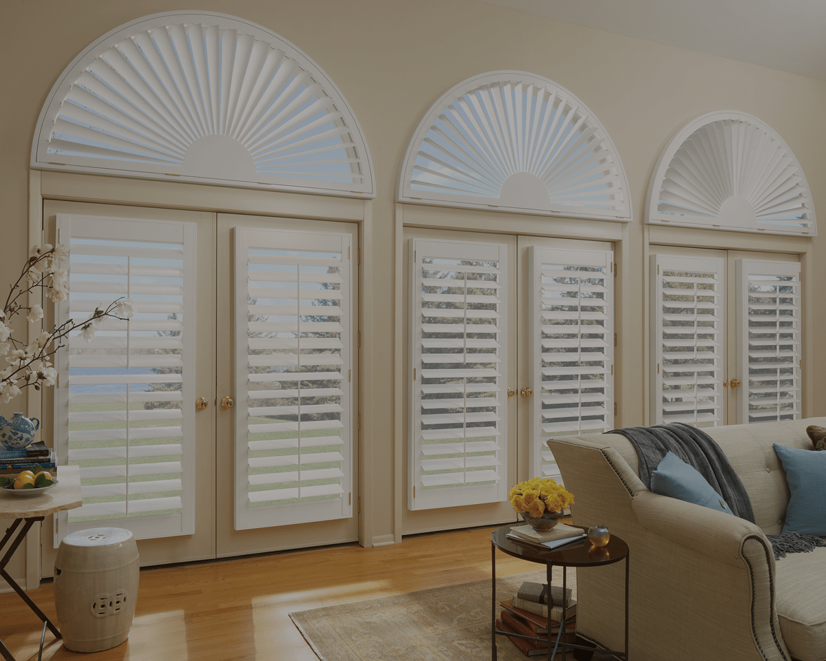 Specialty Shapes In Windows Spring Shutters Blinds
