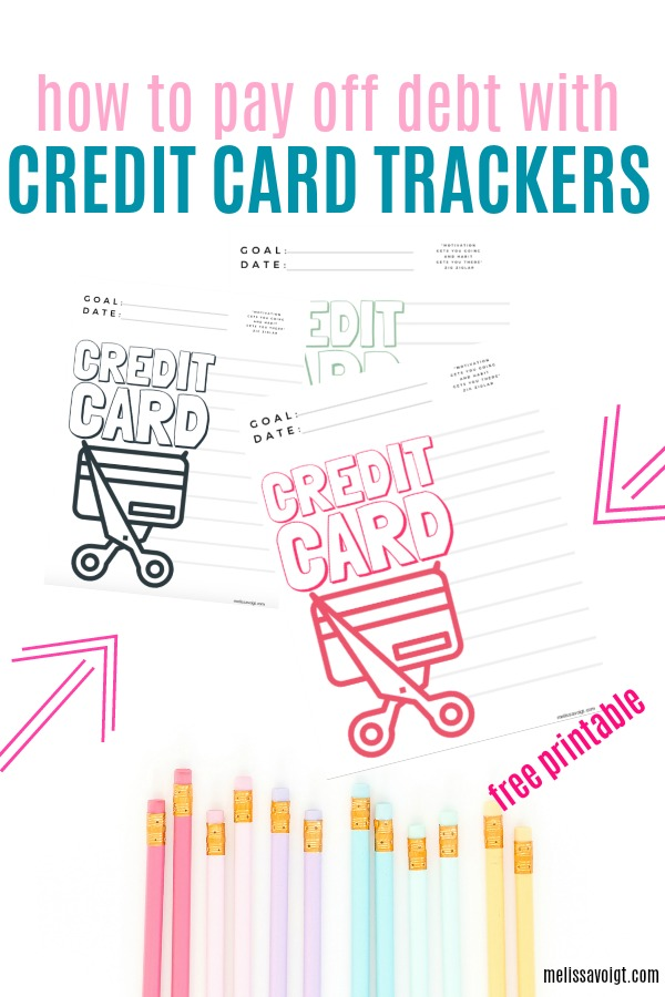 Credit Card Debt Free Tracker Printable Worksheet Melissa