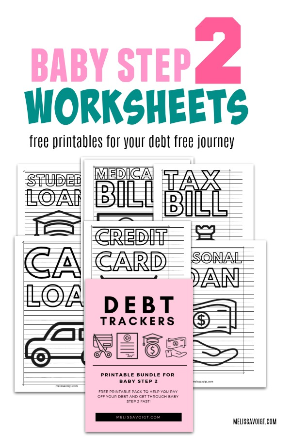 Debt Trackers For Baby Step 2 Melissa Voigt