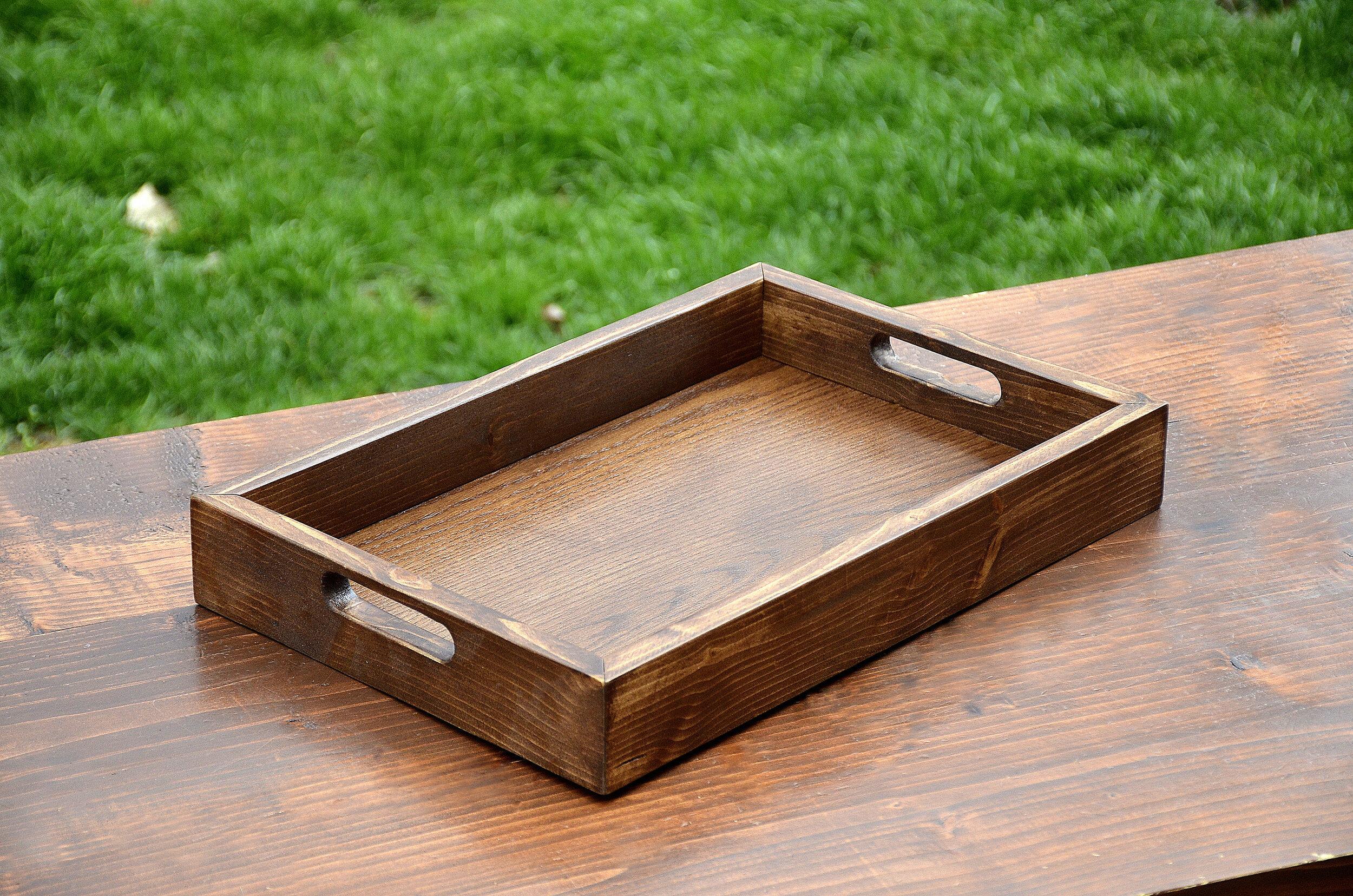 wood tray serving tray coffee table ottoman tray penn rustics