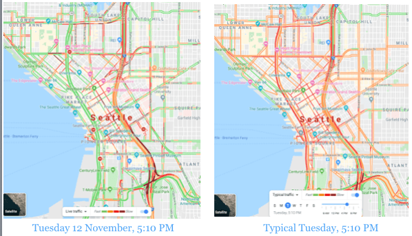Source: Google Maps Traffic.
