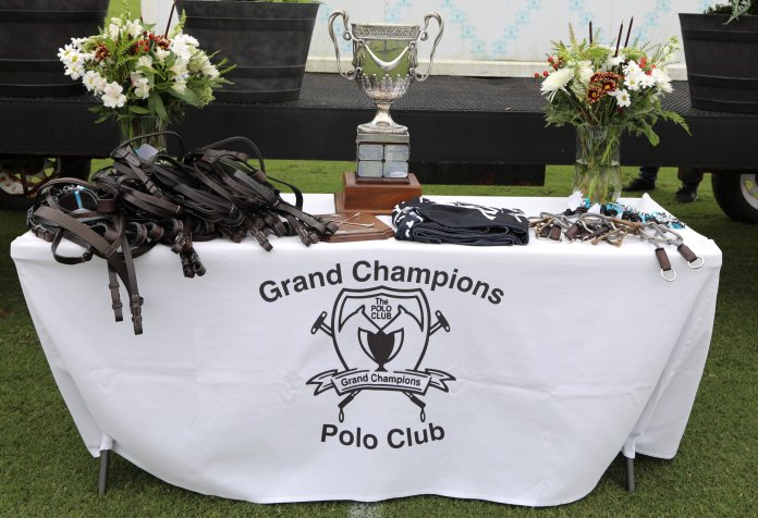 Grand Champions awards table for the Pedro Morrison Memorial.    Photos by Grand Champions Polo Club