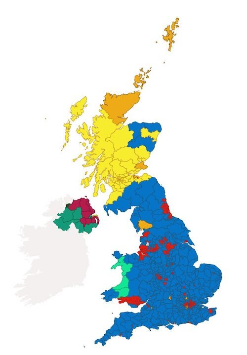 To locate a Labour's enclave use a magnifying glass