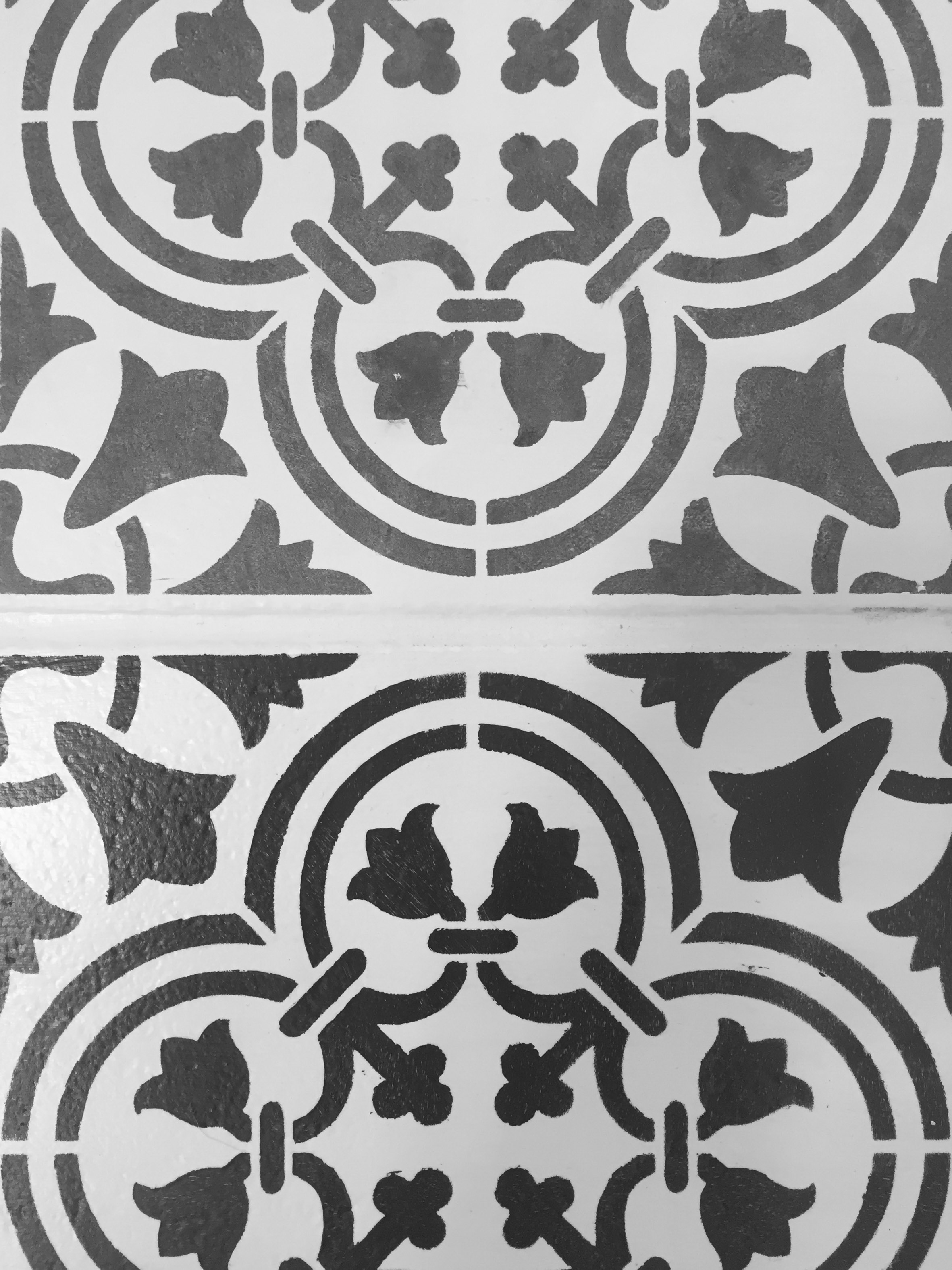 moroccan inspired painted tile