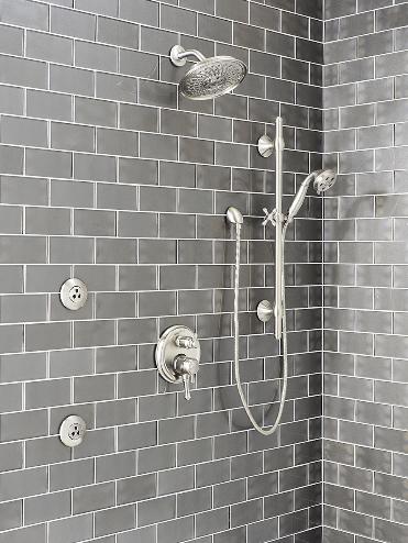 metallic gray subway tile 3x6 75 cabinets