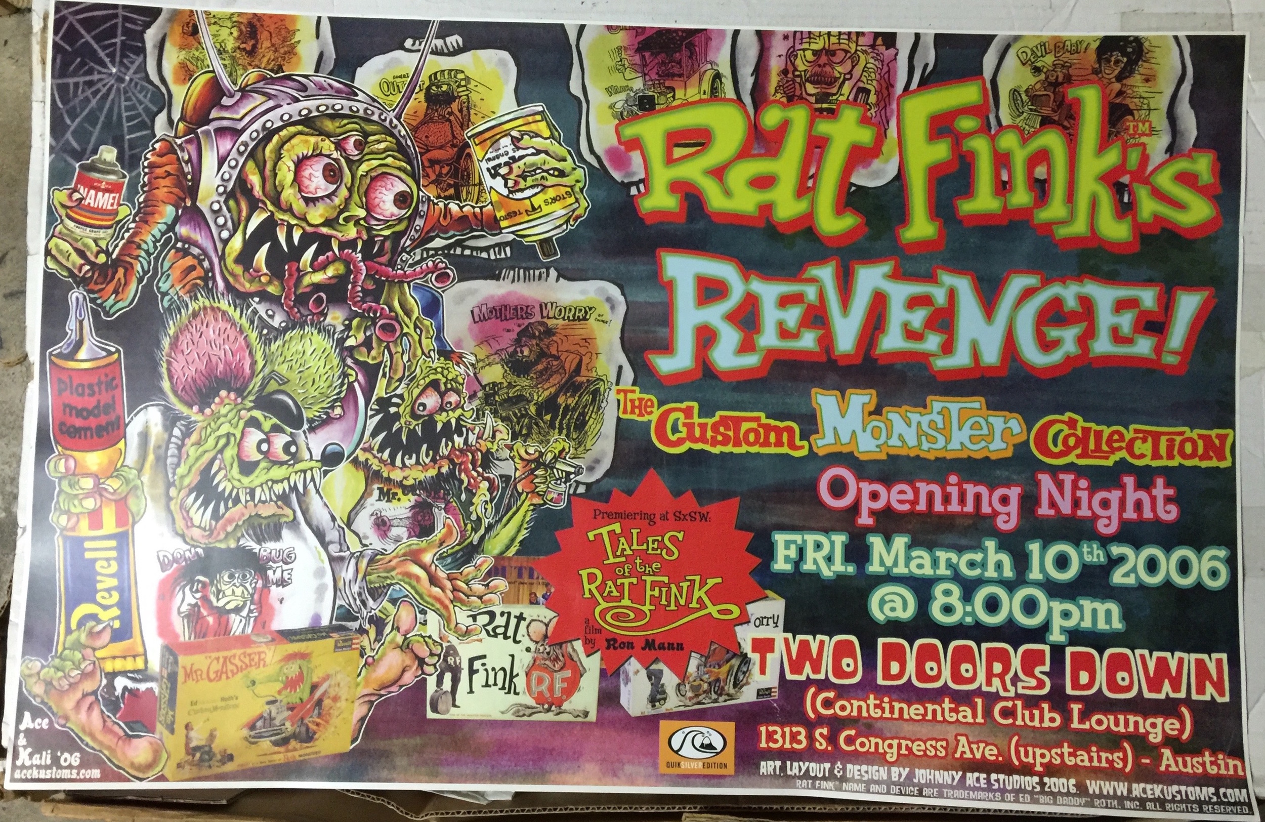 rat fink s revenge large poster 2006 the continental club