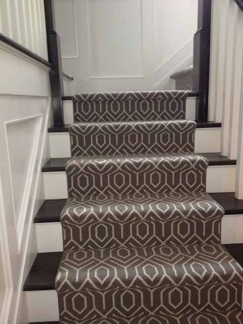 Stair Carpeting — Blog — 844 My Stair   White Stairs With Carpet   Chocolate Brown   Oak   Solid Colour   Colour   Landing
